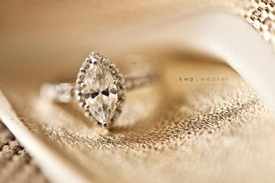 elegant wedding photography diamond engagement ring shot - Elegant Wedding Rings