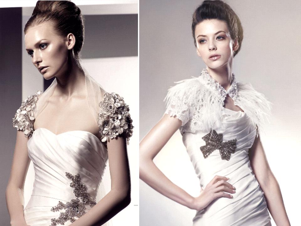 bridal bolero statement wedding accessory over the wedding dress