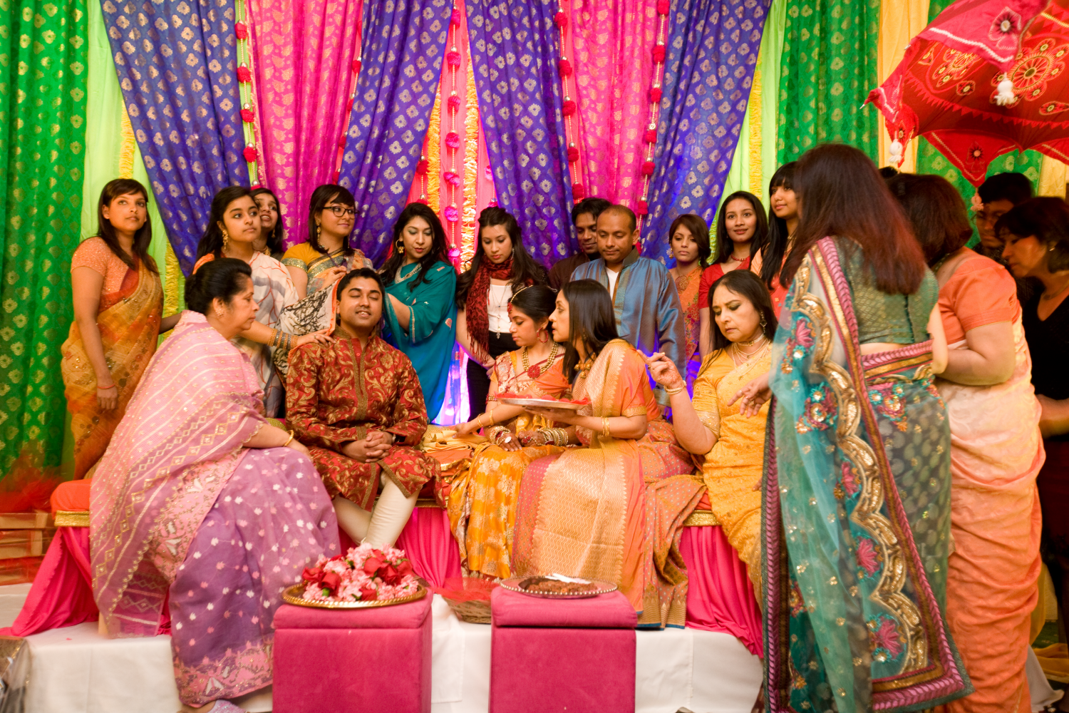 Colorful indian wedding in nyc pre wedding ceremonies for Indian wedding dresses new york