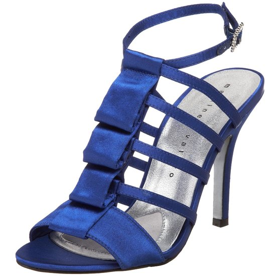 Strappy blue bridal heels by Martinez Valero