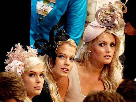 Chic statement hats worn by guests at the royal wedding