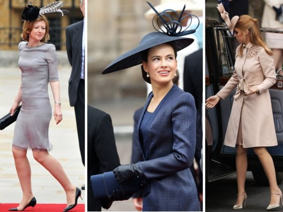 Royal wedding guests wore high-fashion hats to Kate and Prince William's wedding