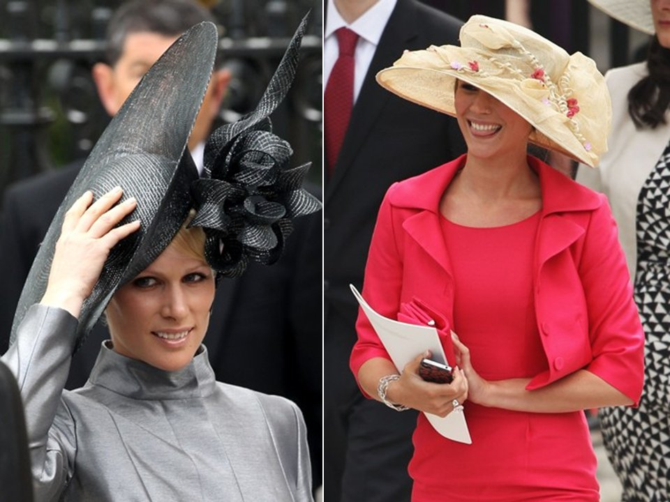 High-fashion wedding hats seen at the royal wedding
