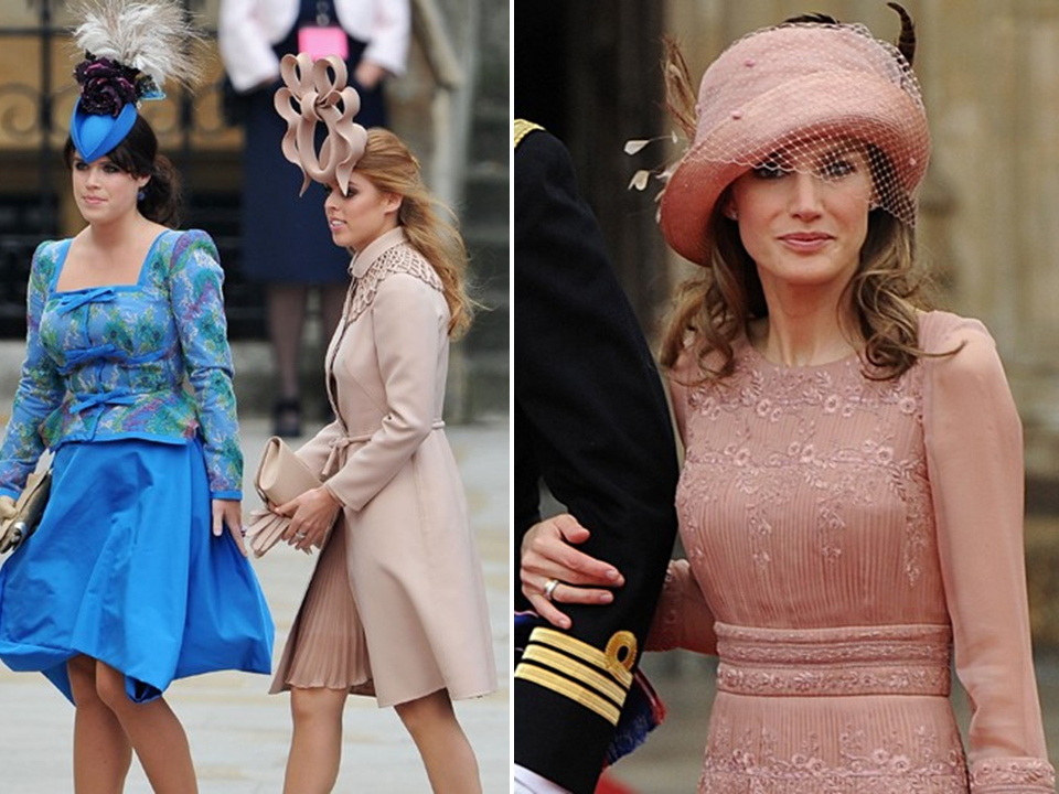 Fellow royals and wedding guests wore chic lids by philip for Royal wedding dress code