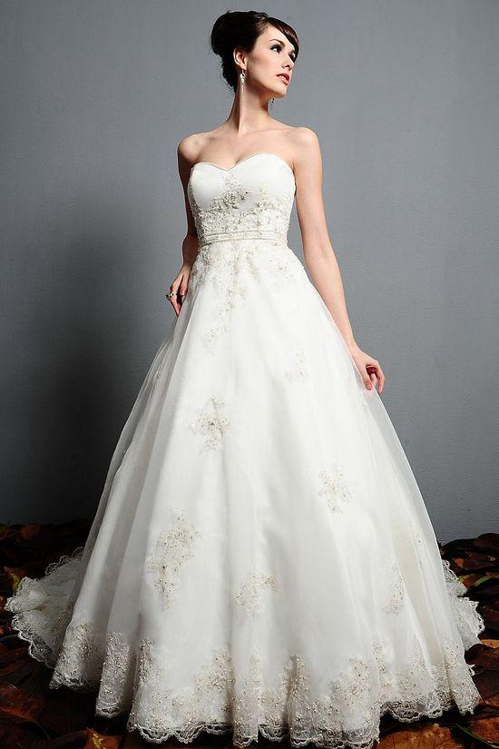 Elegant Strapless Wedding Dress