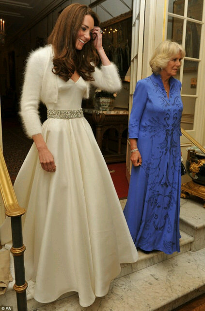 Kate Middleton Changes Into Wedding Reception Dress Also By Sarah Burton With Blinged Out Bridal B