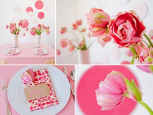 photo of Summer Wedding Flowers Inspiration: Pink Peony Tulips