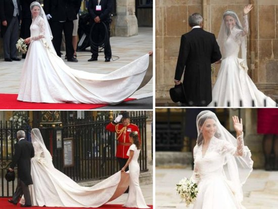Kate Middleton unveils her gorgeous Sarah Burton wedding dress