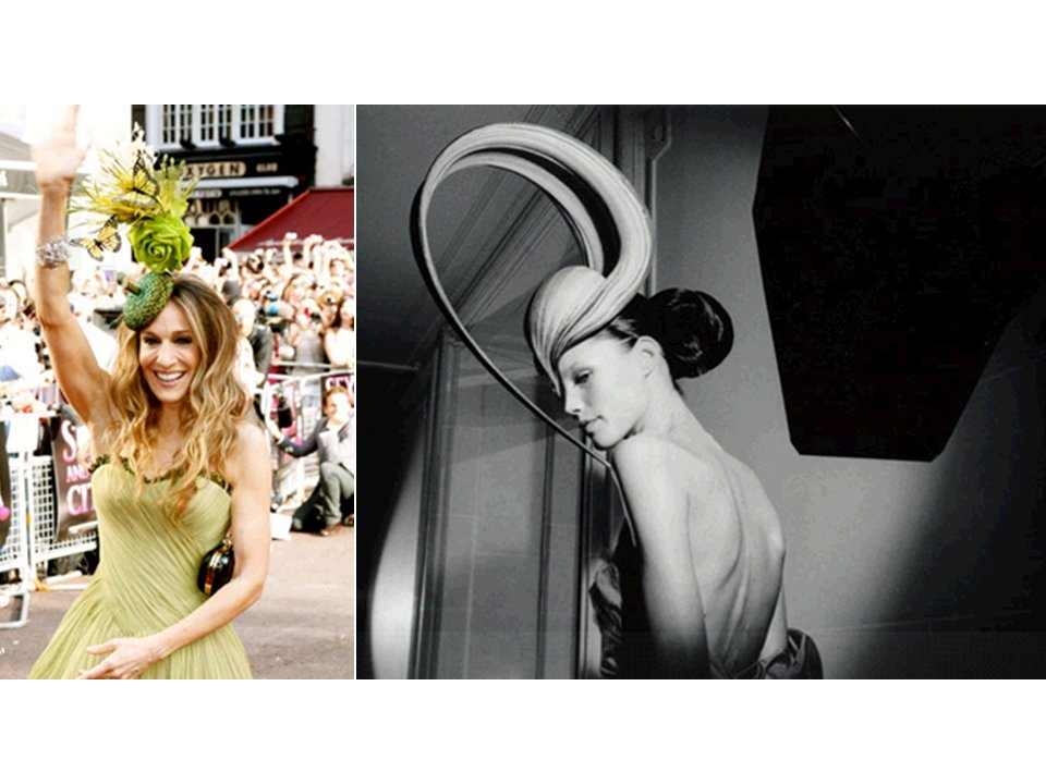 Sarah Jessica Parker in Philip Treacy hat