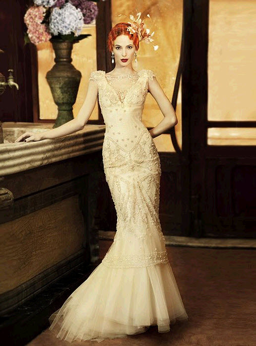 Vintage-inspired-lace-mermaid-wedding-dress-beading.full
