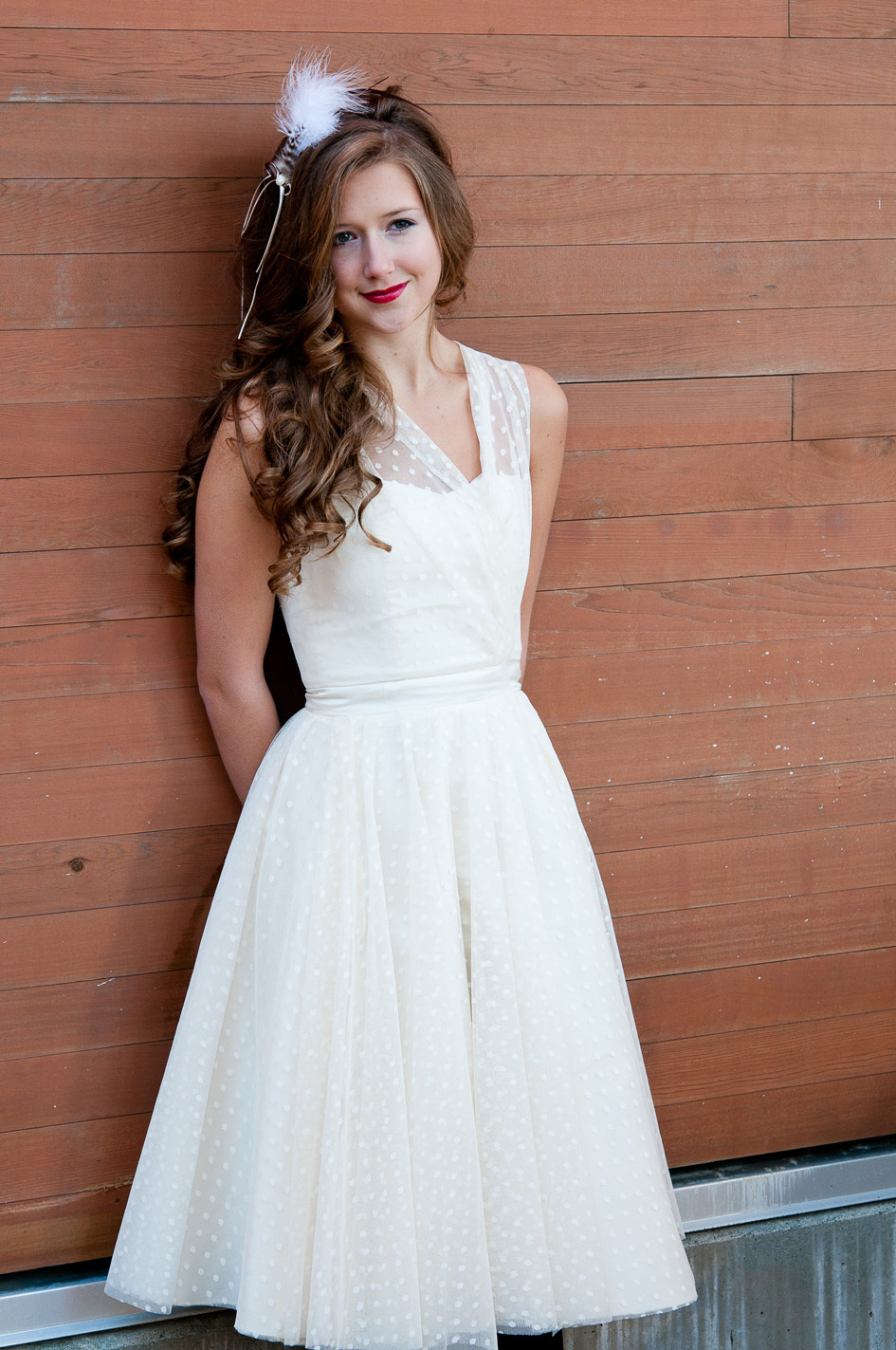 Vintage-inspired-polka-dot-wedding-dress-bridal-style-unique.full
