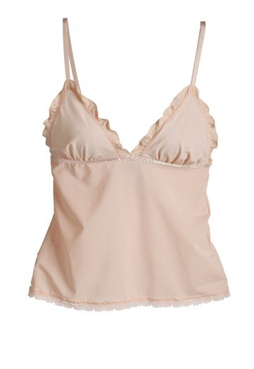 Sweet silk blush pink lingerie top for your wedding night