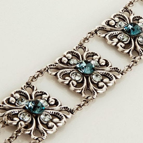Old world bridal bracelet