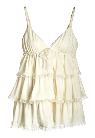 Classic ivory empire ruffled lingerie top for your wedding night