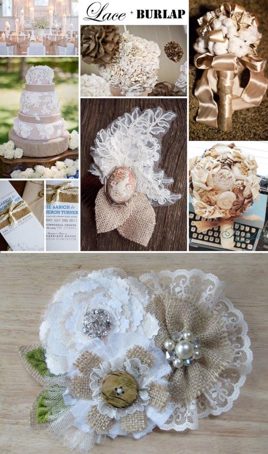 photo of burlap-lace-rustic-wedding-accessories-romantic-wedding-ideas