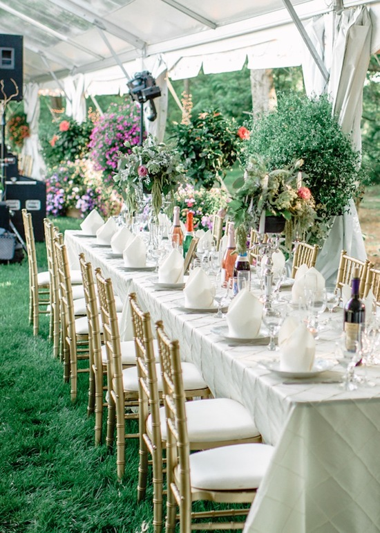 Garden wedding table decor