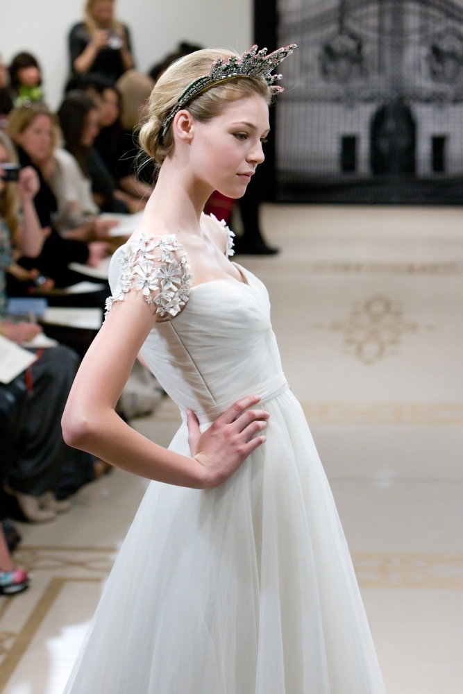 Opulent Full A Line Spring 2012 Wedding Dress With Royal Regal Details