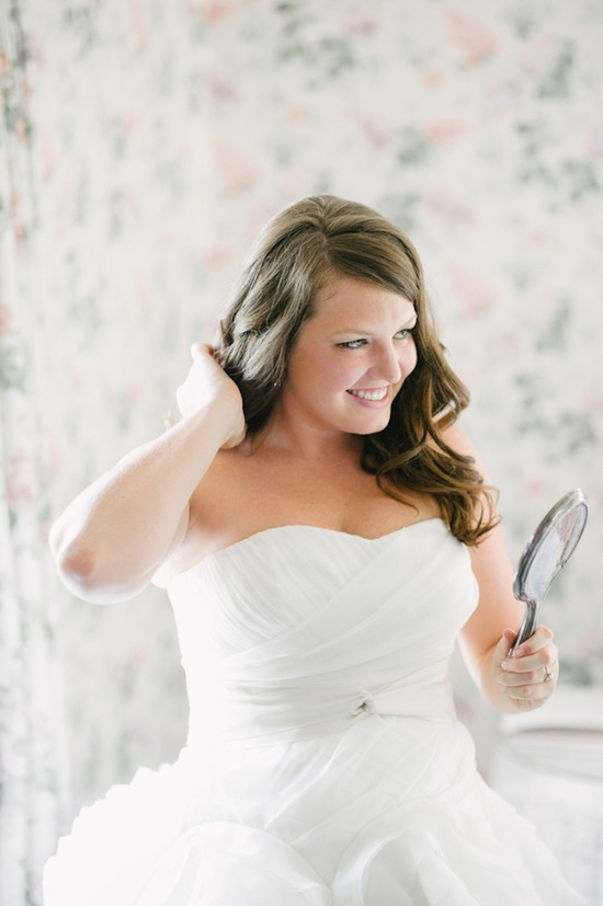 Real bride prepping for her big day