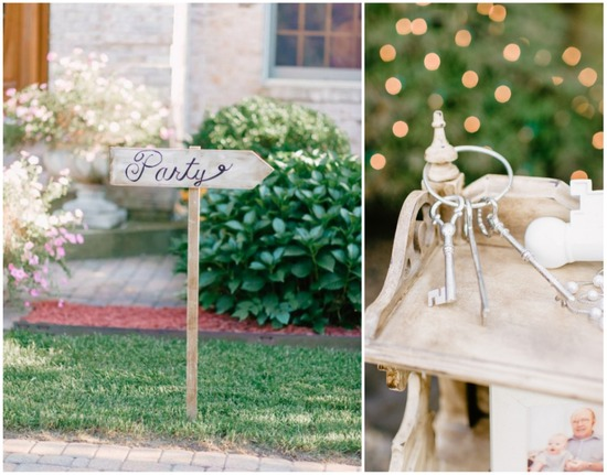 Romantic garden wedding decor