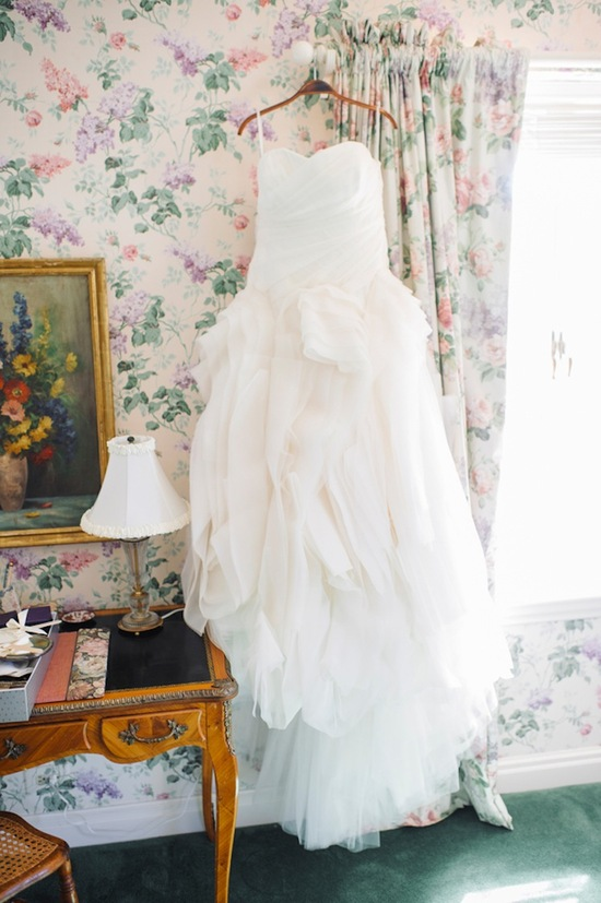 Wedding gown before the ceremony