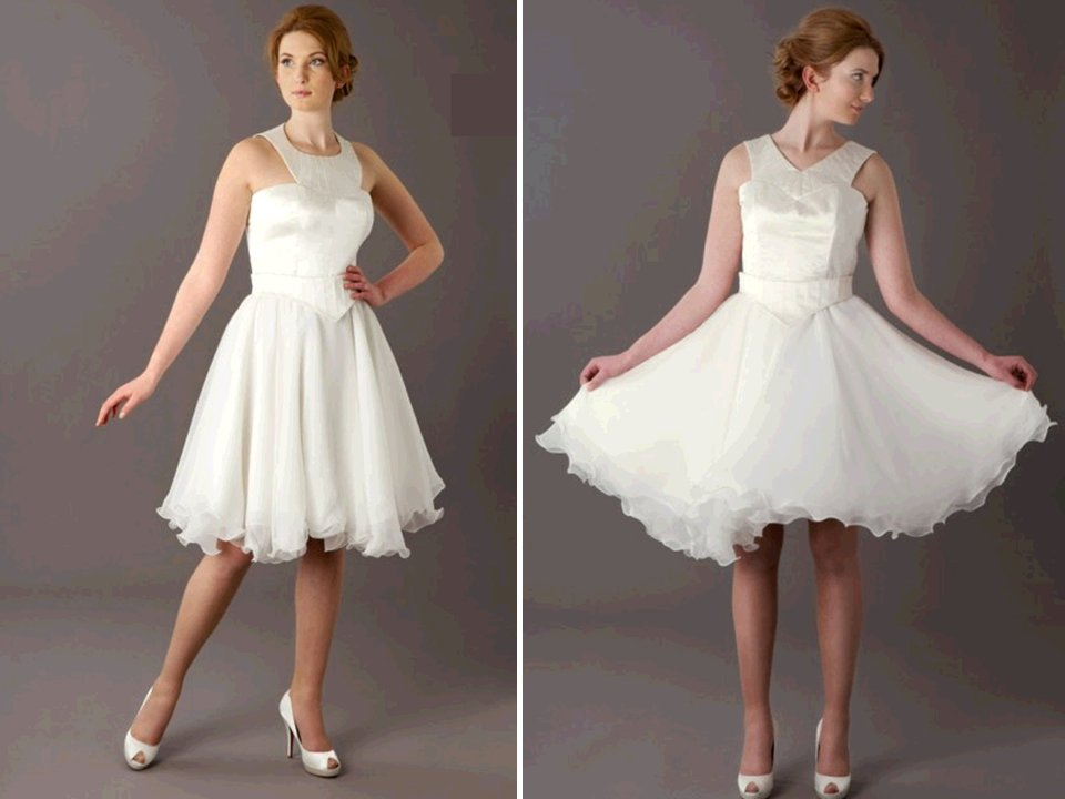 Vintage Inspired Flirty Wedding Reception Cocktail Dress