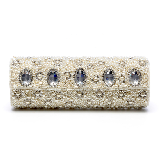 Jewel-adorned wedding clutch by Tejani