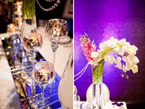 photo of Wedding reception flowers and decor fit for the royal wedding