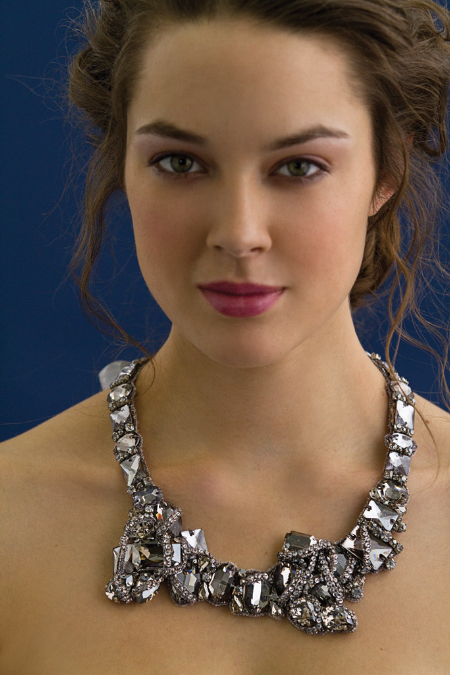 Stunning art deco inspired statement bridal necklace