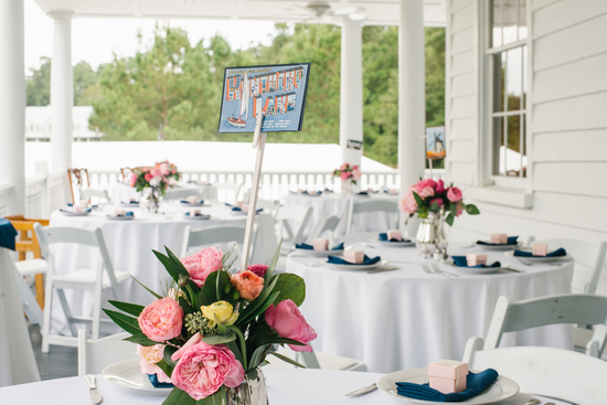 Outdoor reception on porch