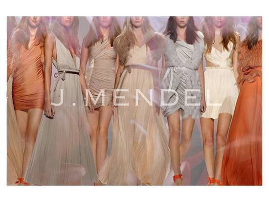 Grecian-inspired gowns and little white dresses by J. Mendel