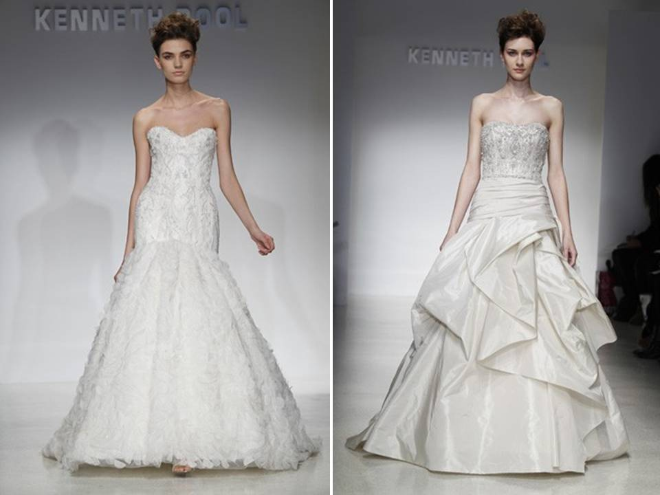 Romantic lace drop waist a line wedding dress and high for Lace drop waist wedding dress