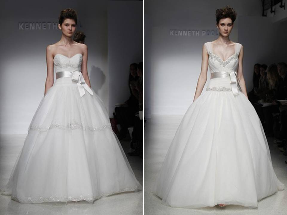 Romantic tulle ball gowns from Kenneth Pool's Spring 2012 bridal collection