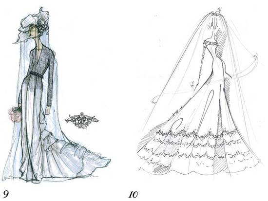 Rachel Roy and Reem Acra sketch Kate Middleton's wedding dress