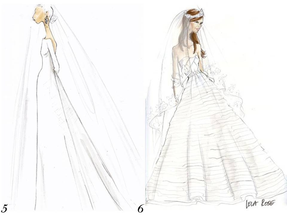 J.Crew and Lela Rose sketch Kate Middleton\'s royal wedding dress