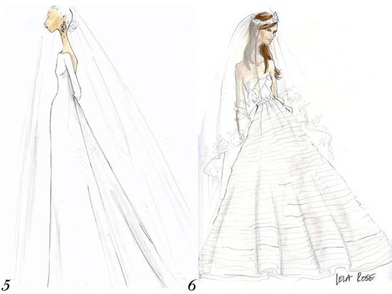 J.Crew and Lela Rose sketch Kate Middleton's royal wedding dress