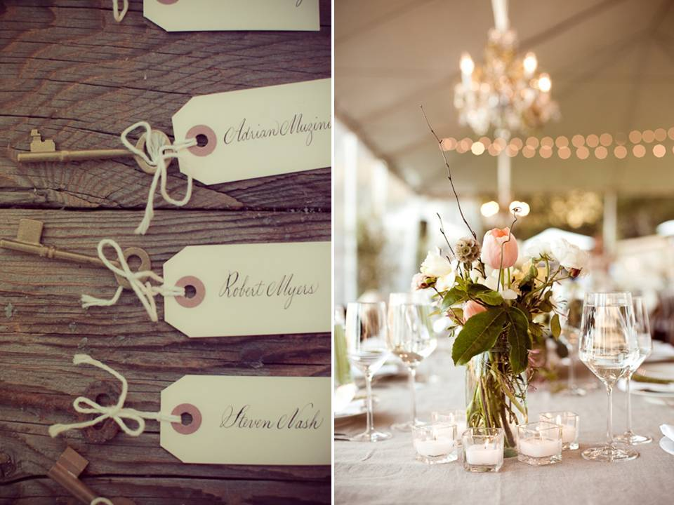 Vintage Wedding With Soft Color Palette And Outdoor Reception