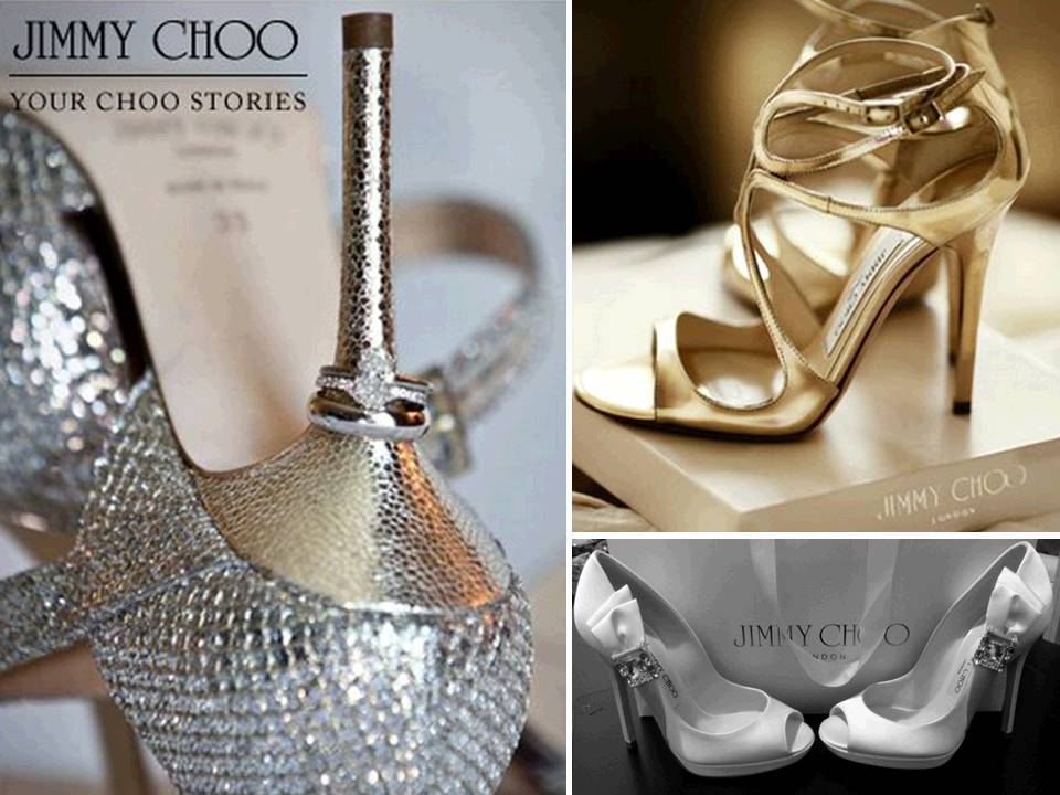 Stunning metallic bridal heels by Jimmy Choo