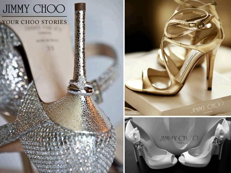 Stunning Metallic Bridal Heels By Jimmy Choo