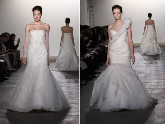 Chic mermaid wedding dresses from Rivini's 2012 bridal collection