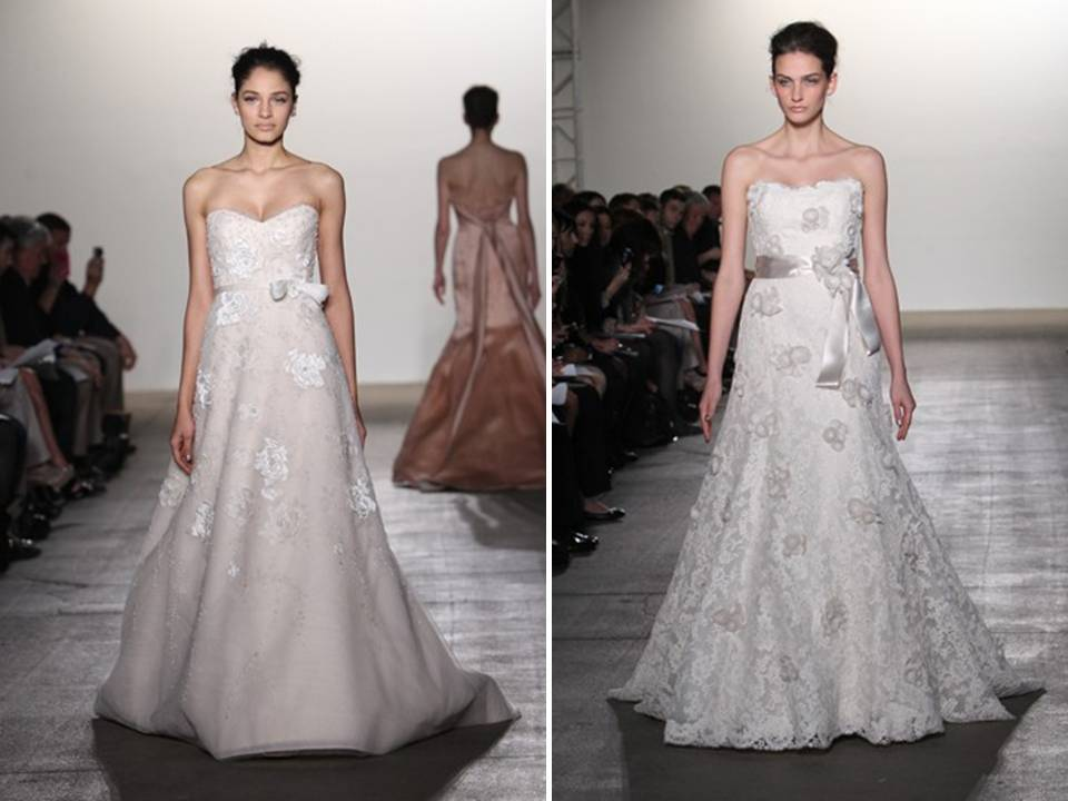 Inspired by Central Park during Spring, these 2012 Rivini gowns are romantic and feminine