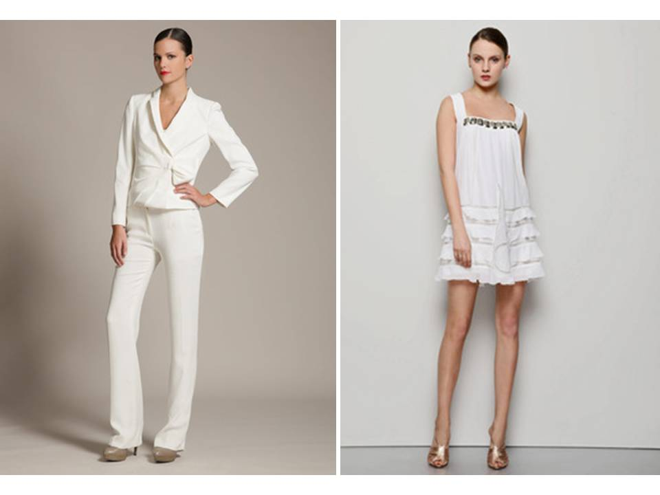 Wedding Suits For Brides : Bridal trends white suit for bride rehearsal dinner wedding