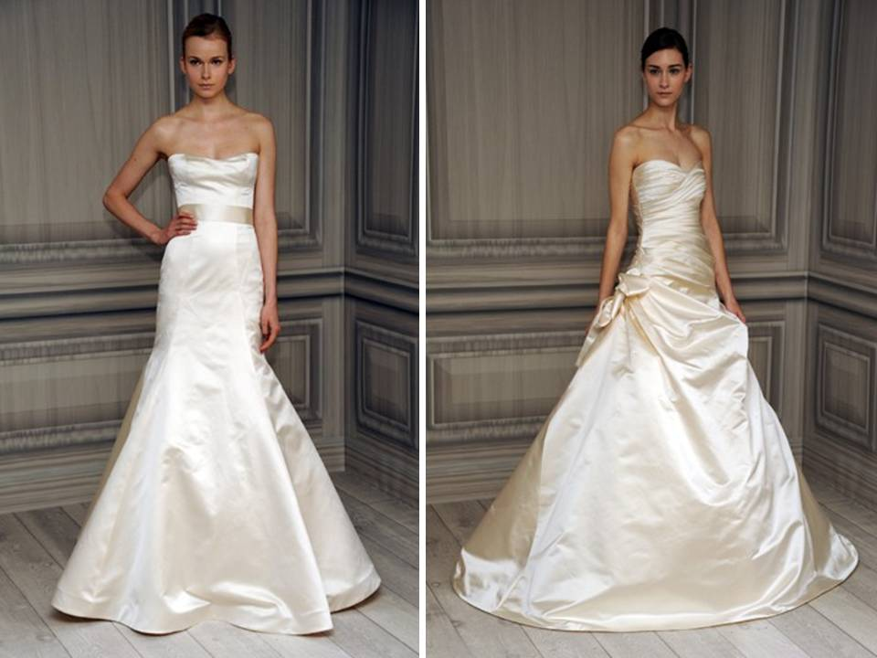 fashion silk wedding dresses