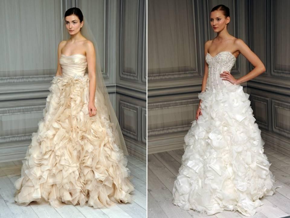 Texture-rich Spring 2012 Monique Lhuillier Wedding Dresses