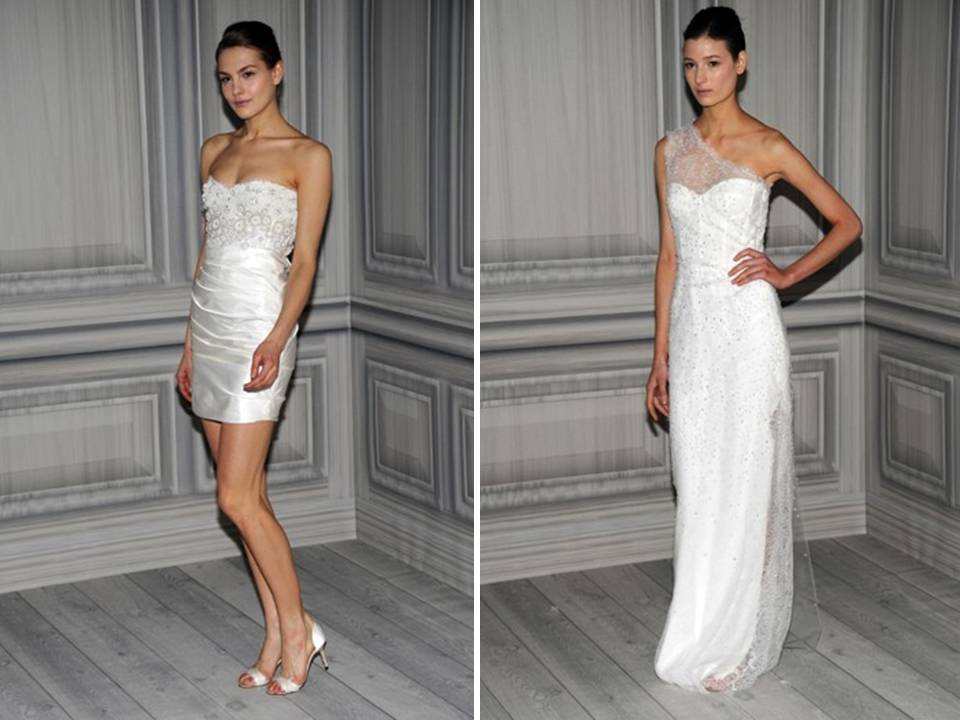 Chic mini wedding reception dress and one shoulder column for White after wedding party dress