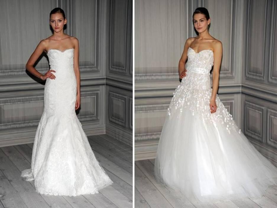 Modern mermaid monique lhuillier bridal gowns with bustle detail junglespirit Images