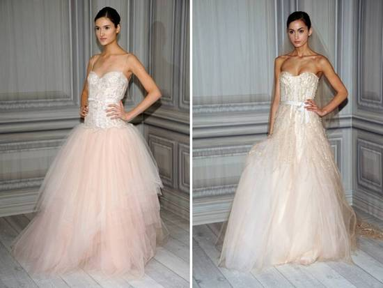 Ballet-inspired Monique Lhuillier ballgown wedding dresses