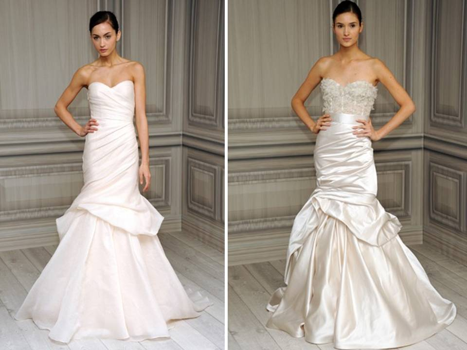 Modern Mermaid Monique Lhuillier Bridal Gowns With Bustle