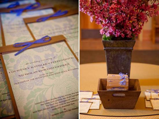 Chic wedding invitations for country chic Jackson Hole wedding