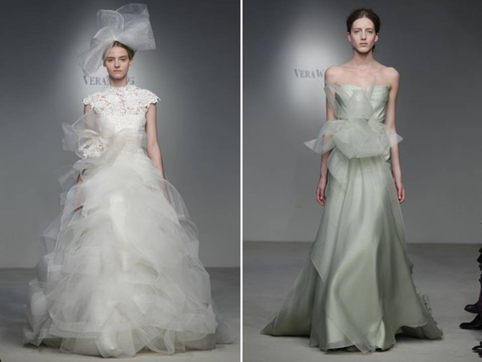 Haute couture inspired vera wang ballgown and moss green for Buy vera wang wedding dresses