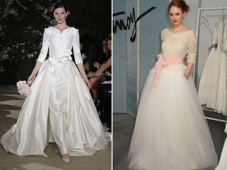 Three quarter length sleeved 2012 wedding dresses for Three quarter wedding dresses